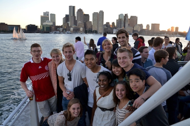 Students on exchange abroad